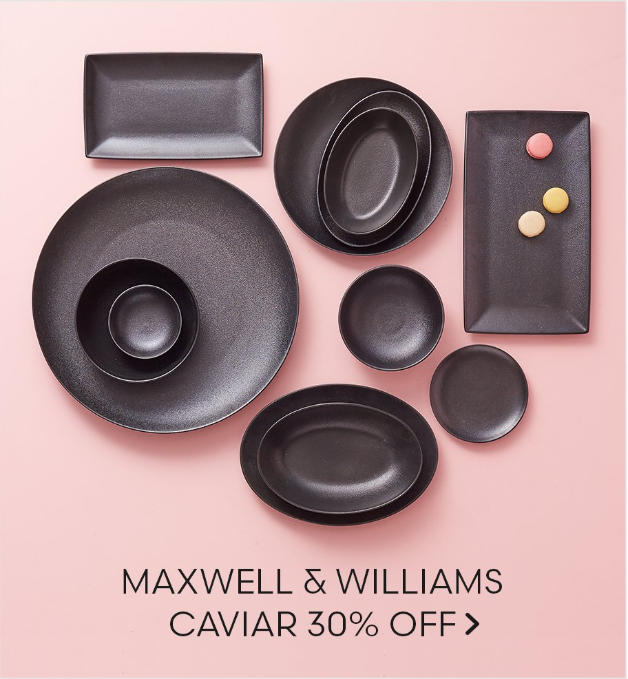 Maxwell & Williams Caviar 30% Off