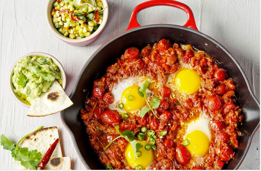 Mexican-Style Baked Eggs