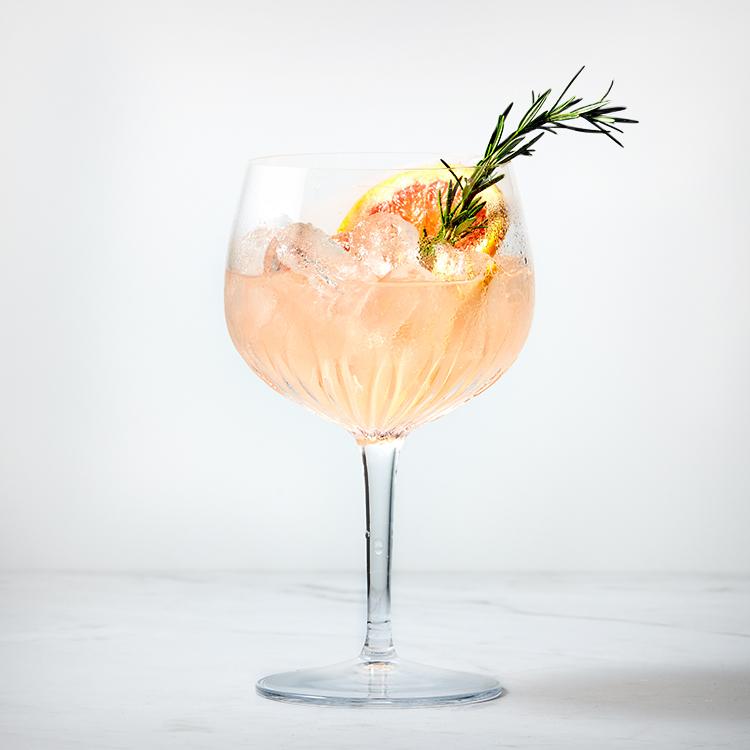 Grapefruit Gin Fizz in Luigi Bormioli Mixology Gin Glass