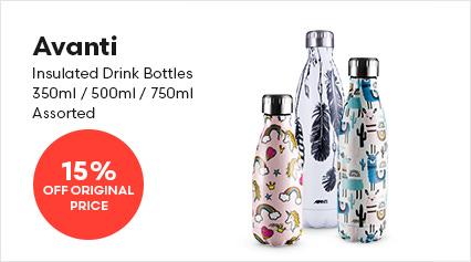 Avanti Insulated Drink Bottles 350ml / 500ml / 750ml Assorted