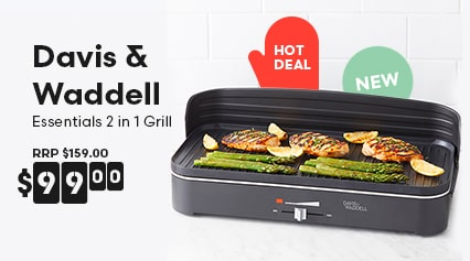 Davis & Waddell Essentials 2 in 1 Electric BBQ/Indoor Grill