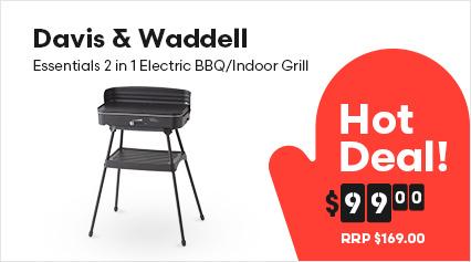 Davis & Waddell Essentials 2 in 1 Electric BBQ/Indoor Grill