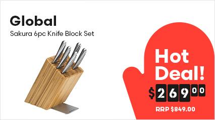 Global Sakura 6pc Knife Block Set