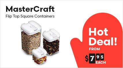 MasterCraft Flip Top Square Containers