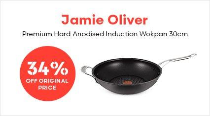 Jamie Oliver Premium Hard Anodised Induction Wokpan