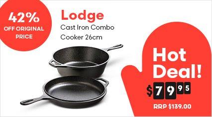 Lodge Cast Iron Combo Cooker 26cm