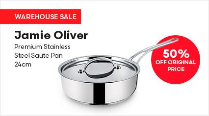 Jamie Oliver Premium Stainless Steel Saute Pan 24cm