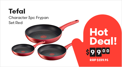 Tefal Character 3pc Frypan Set Red