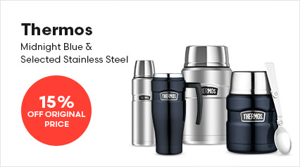 Thermos Midnight Blue & Selected Stainless Steel