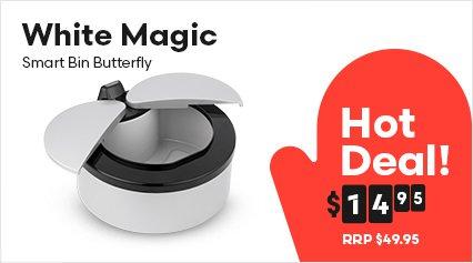 White Magic Smart Bin Butterfly