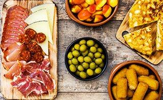 Tapas Spain on a Plate